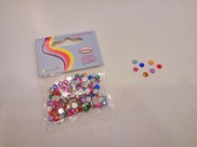 "Strass ""mini"" multicolor in plastica"